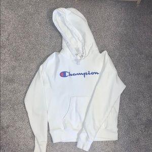 XS white champion sweater!